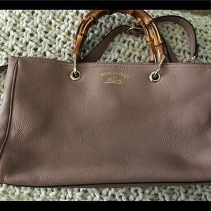 Authentic Gucci Bamboo Crossbody Handbag